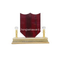 stock luxury souvenir wooden award plaque