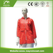 Ladies Fashion Long Rain Outdoor Jacket