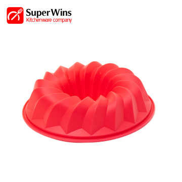 Non-Stick Pound Mold Silicone Bundt Pan Tube Pan
