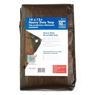 Brown color PE tarpaulin light weight waterproof