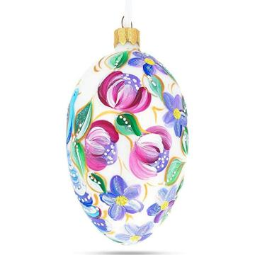 Customized Hand Painted Printing Glass Easter Egg