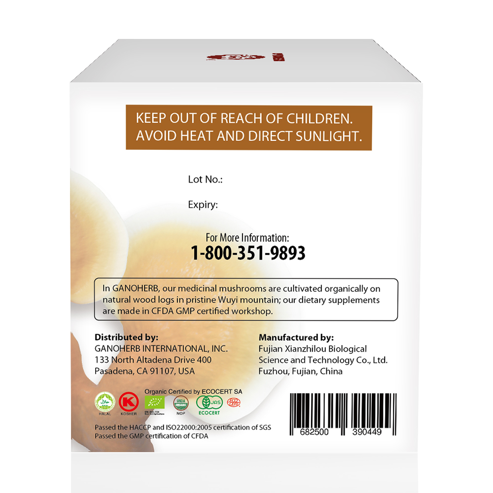 Reishi Mushroom Healthy Tea With Herbal Powder