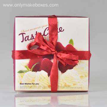 Big Cake Boxes With Ribbon Tie