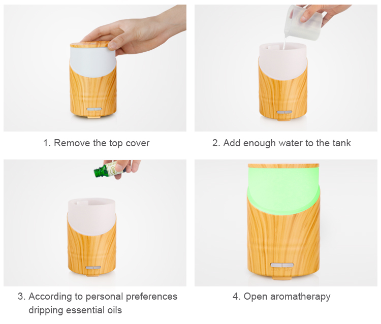ultrasonic essential oil aromatherapy diffuser