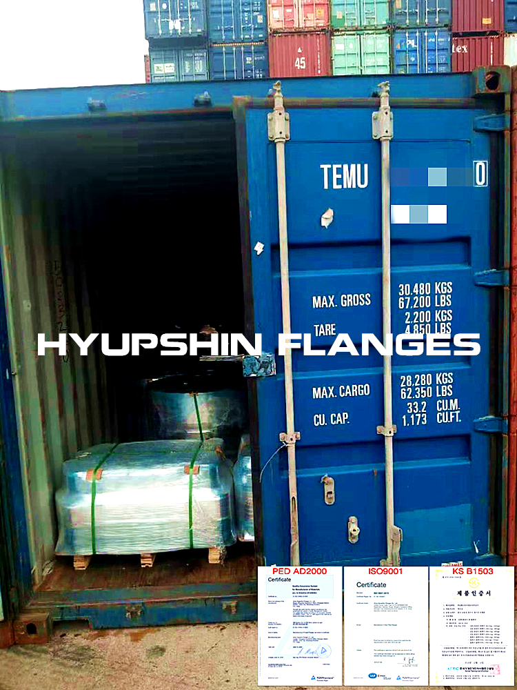 Hyupshin Flanges Ship Containers Shipping