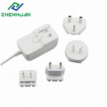 18W 36V 0.5A DC Interchangeable Wall Plug Adapter