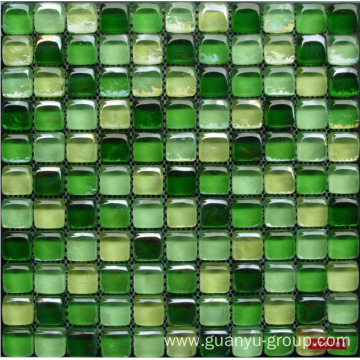green bread shape crystal mosaic