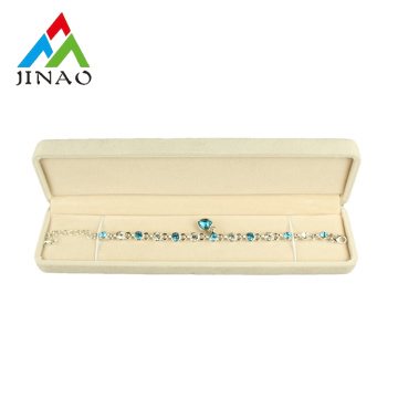 Beige Color Velvet Jewelry Box for bracelet