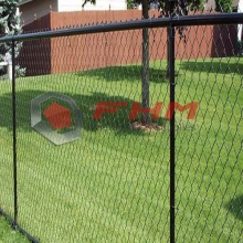 Black PVC Coated Chain Link Residential Fencing