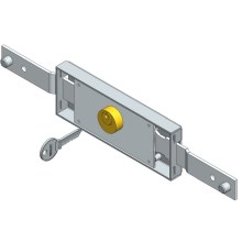 Central roller shutter lock shifted bolt