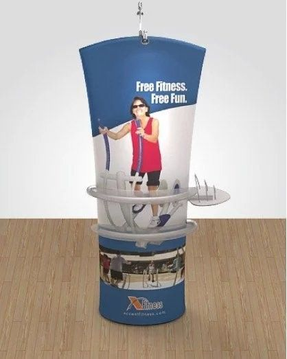 Floor Standing Angled Tension Fabric Banner Display Stand
