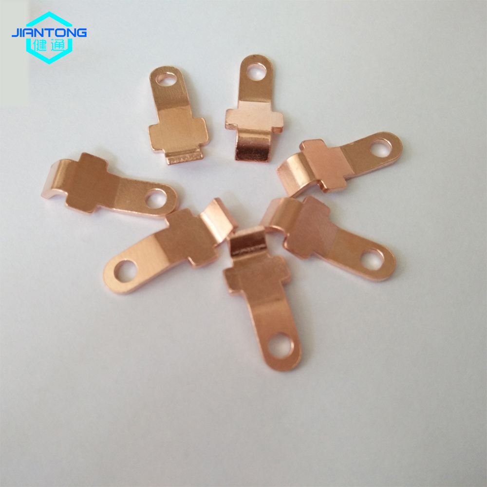 Customized Stamped Brass Spring Contact Plate
