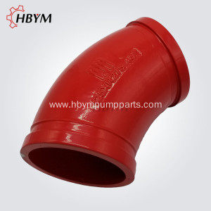DN125 R275 45D Concrete Pump Casting Elbow