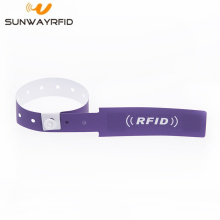 Supply for RFID Paper Wristband Custom Printed Disposable UHF RFID Tag Wristband Paper export to Spain Factories