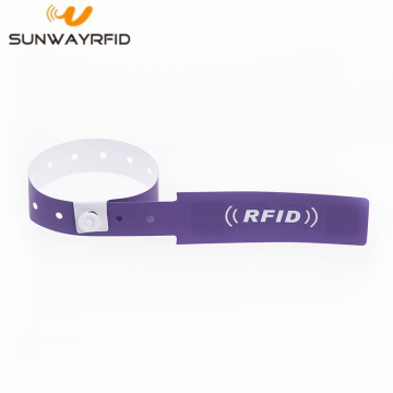 Custom Printed Disposable UHF RFID PVC Wristband