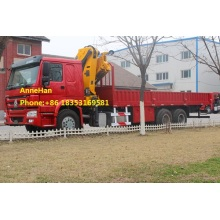 China for Small Crane For Truck Sinotruk HOWO 6x4 25 tons Crane truck supply to Jordan Factories