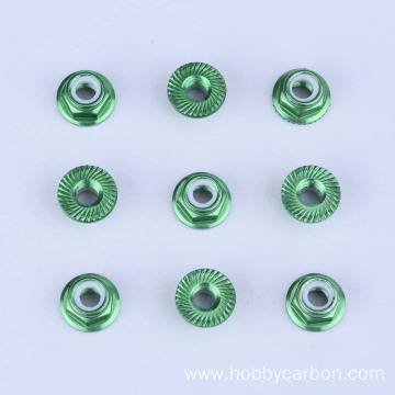 Gibag-o nga Metric Aluminum Round Button Serrated Nut