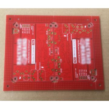 2 layer PCB with red Solder