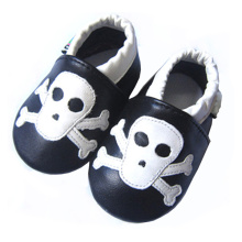 100% Original for Soft Leather Baby Shoes Wholesale in Cheap Price | Babyshoes.cc 2016 Halloween Genuine Leather Soft Infant Shoes Baby export to France Manufacturers
