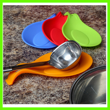 Customized for Silicone Spoon Rest Heat Resistant Food Grade Silicone Spatula Holder export to Mongolia Exporter