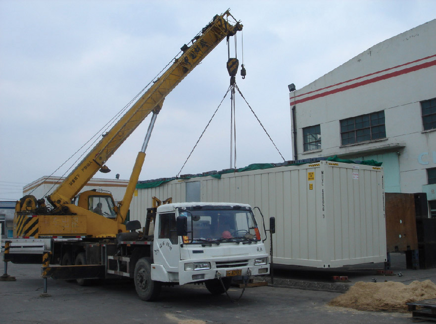 lifting test for Prefab Workshop Container Type