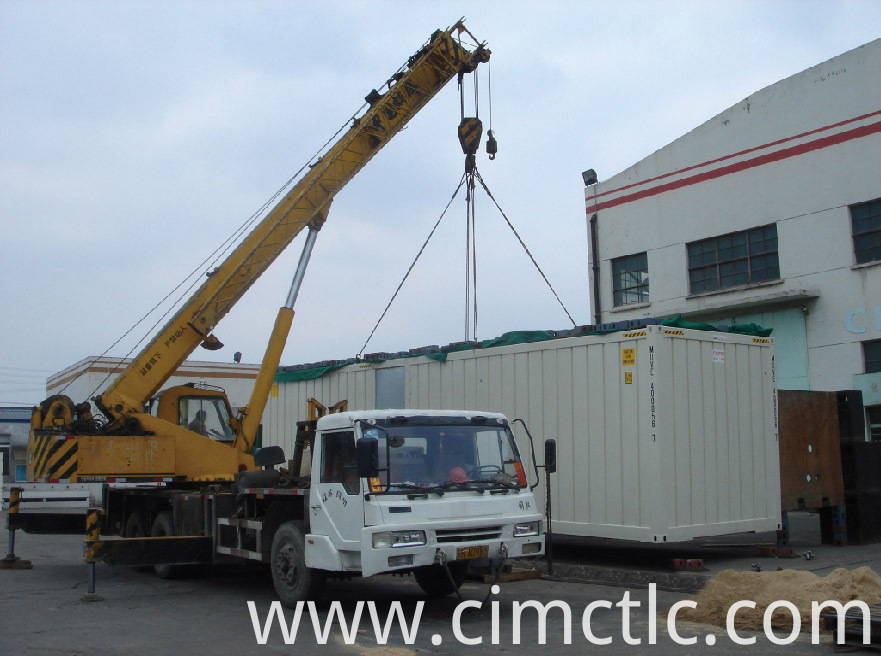 lifting test for Low Noise Container Integrated Type