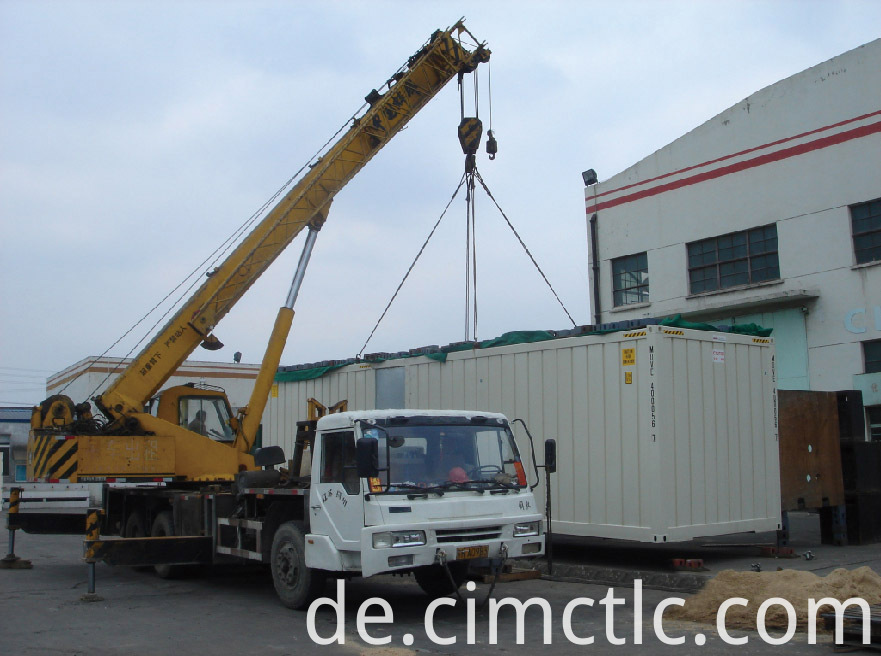 lifting test for Modular Office Building Container Type
