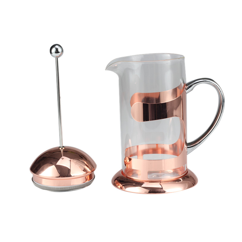 Copper Base French Press Coffee Maker