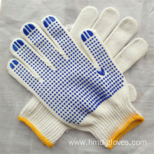 String Knit with rubber dots cotton knitted gloves