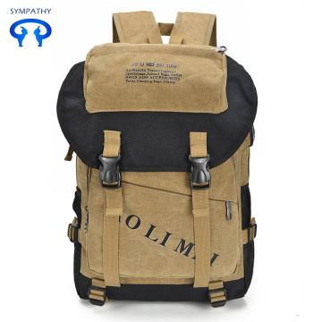 New canvas backpack with large for men's bags