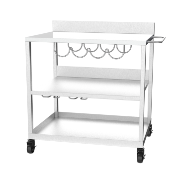 Stainless Steel Plancha Grill Trolley