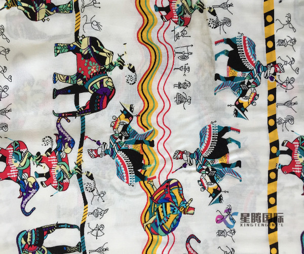 Unique Pattern 100% Rayon Printed Fabric