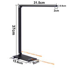 Slim Table Lamp Aluminium Alloy Arm Metal Base