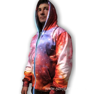 Personlized Products for Lights Up Clothings Pink 3D galaxy lights uo sweatshirt supply to Venezuela Factories
