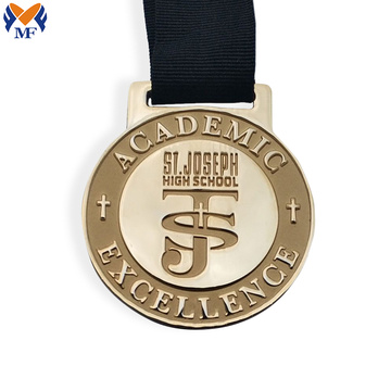 Custom zinc alloy gold metal medals bulk