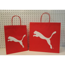 PUMA white kraft paper shopping bag