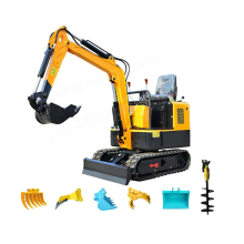1ton Digging machine crawler  mini excavator price