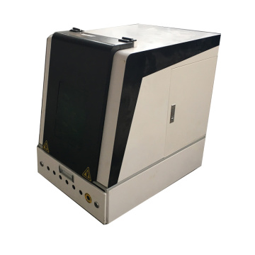 high efficiency Enclosed 30w Metal Keychain Fiber Laser Marking Machine