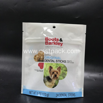 Dog Food Packaging Bag with Zipper