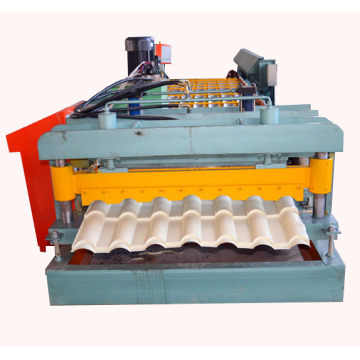 Corrugated roof sheet glazed tiles roll forming machine