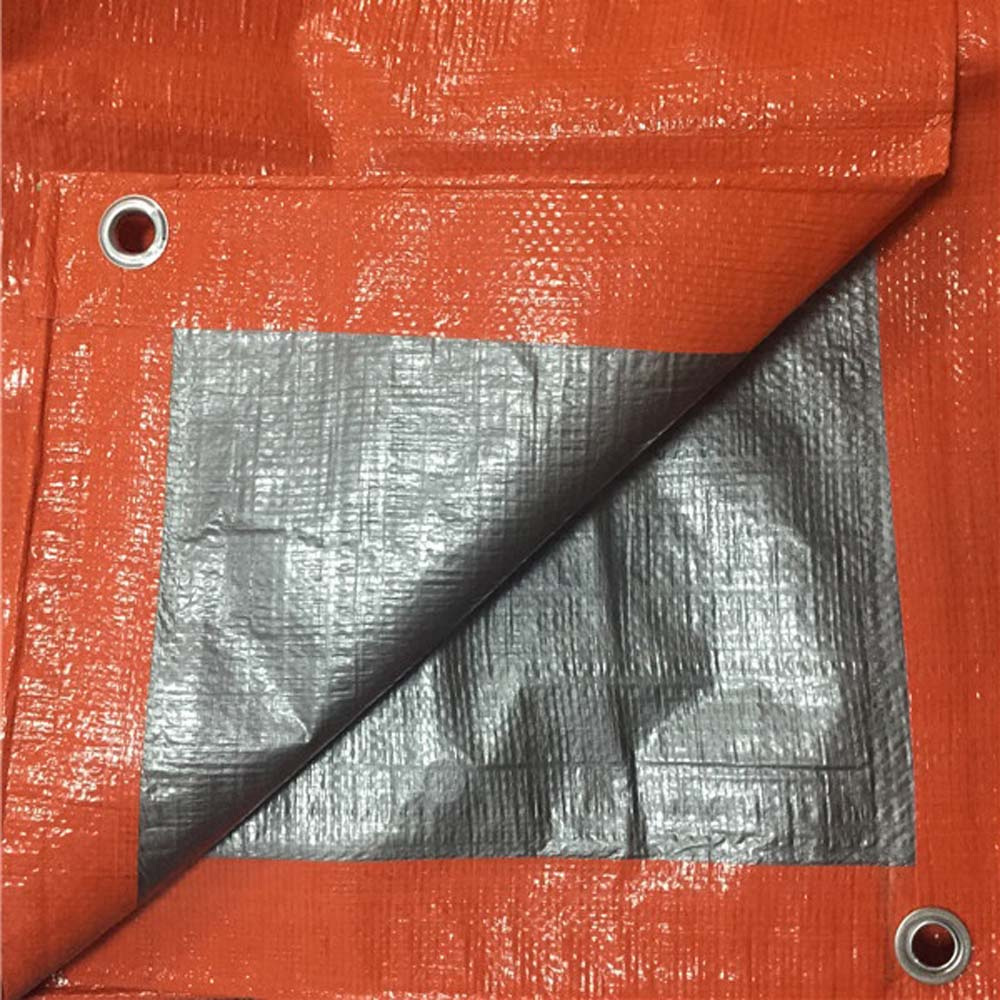 Heavy Duty Durable Orange Silver Tarpaulin