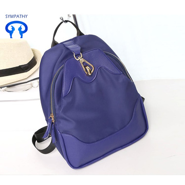 Solid colour Oxford shoulder bag leisure travel bag