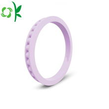 Personalized Silicone Engagement Ring Bead Ladder Soft Rings