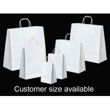White Kraft Paper Shopping Bag