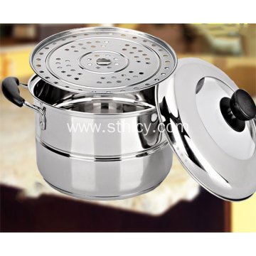Gas Induction Cooker Domestic Stainless Steel Deep Pot