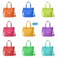 Eco Foldable Customized Print Zipper Canvas Tote Bag