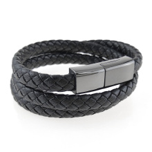 Wearable leather bracelet charger cable for iphone