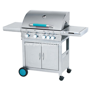 4 Burners Stainless Steel Double Layer Gas Grill
