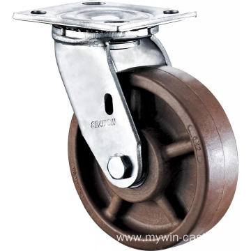6'' Heavy Duty Plate Swivel High Temperature Caster