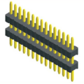 1.27mm Pitch Double Plastic Straight Type Single Row